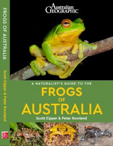 Front cover of A Naturalist's Guide to the Frogs of Australia with an image of a Red-eyed Tree Frog on the front
